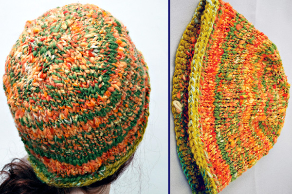 Roll Brim Hat - Free Knitting Pattern for a Rolled Brim Hat