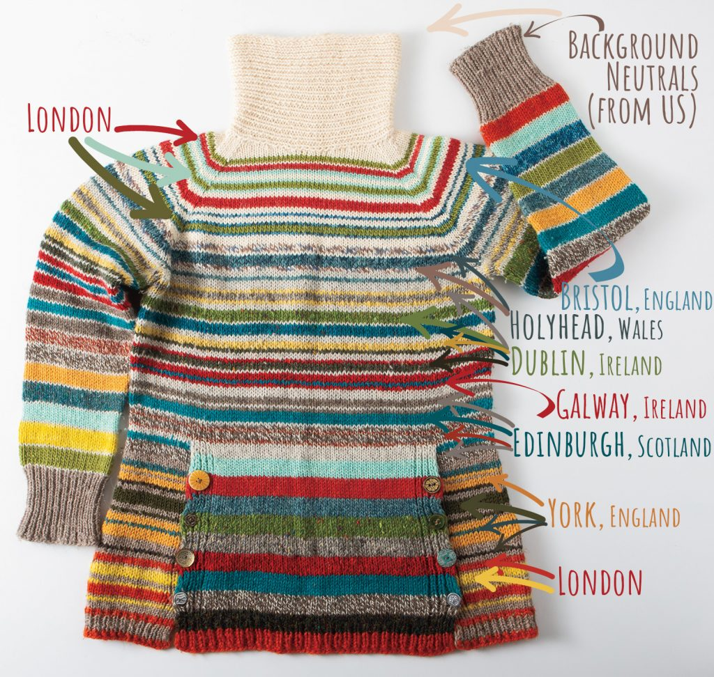 travel sweater with labels
