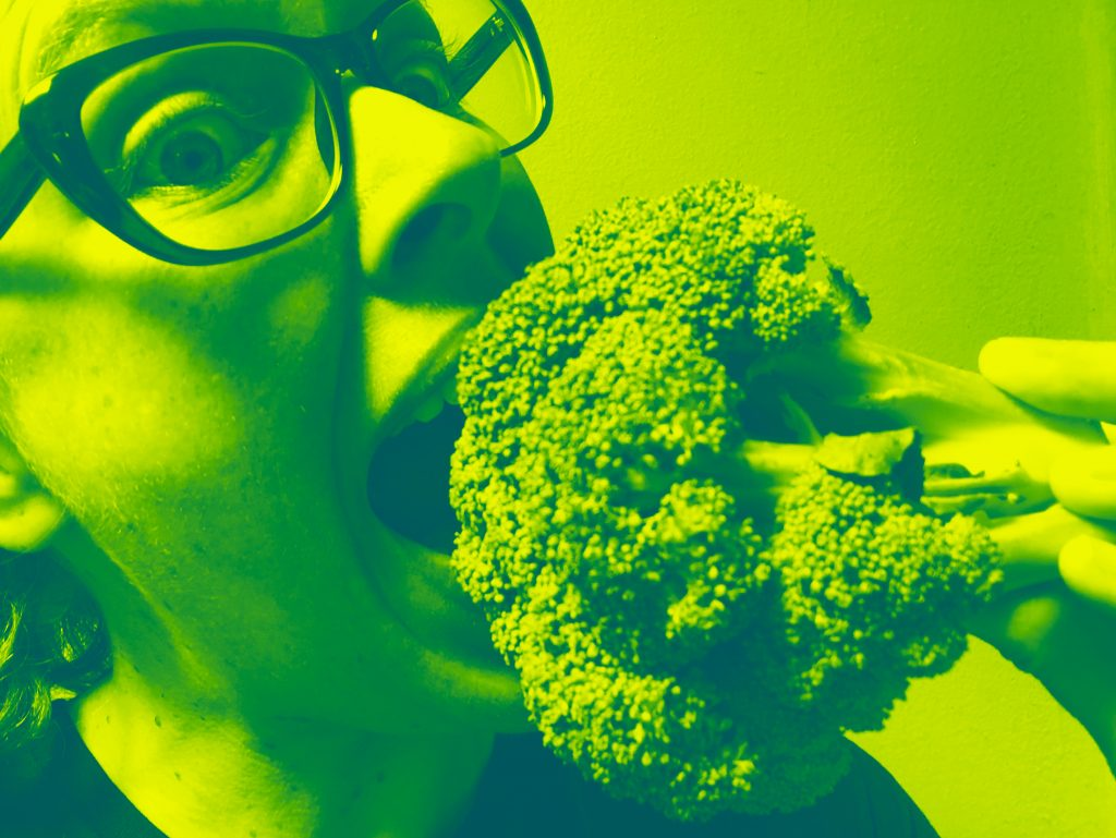 self-portrait with broccoli